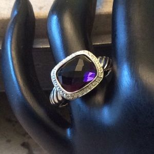 David Yurman Amethyst Ring! Size 7!